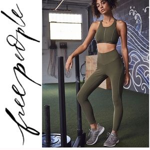 FREE PEOPLE MOVEMENT High Rise OLIVE LEGGINGS